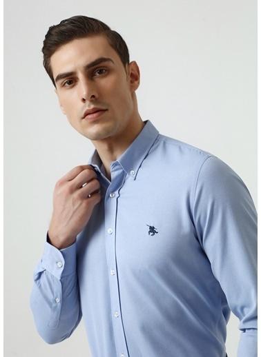 D'S Damat Slim Fit Oxford Gömlek Mavi